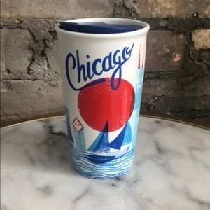 Starbucks Chicago Ceramic Traveler Tumbler NEW